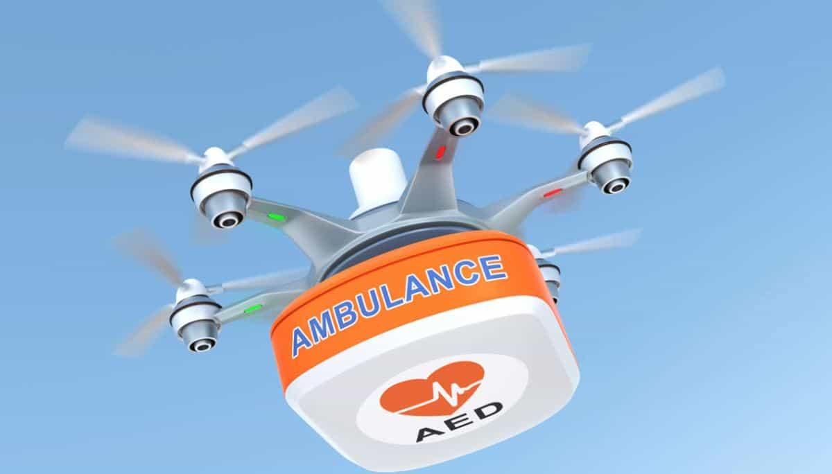 Droni per trasporto defibrillatori