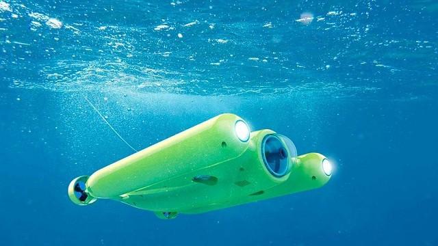 Il drone sottomarino Gladius che registra in 4K