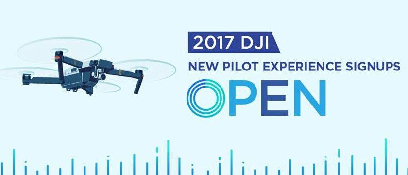 Aperte le iscrizioni per il Dji New Pilot Experience