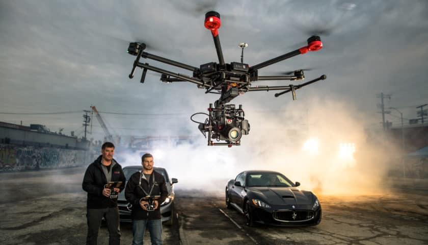 Drone Dji Matrice 600 con camera da 100 mega pixel