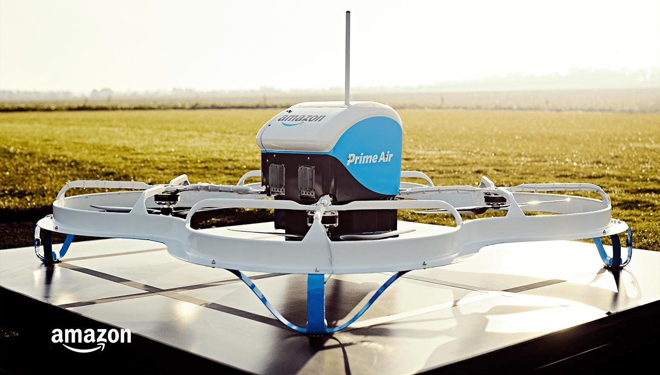 consegne con droni, droni amazon, consegna con droni amazon,