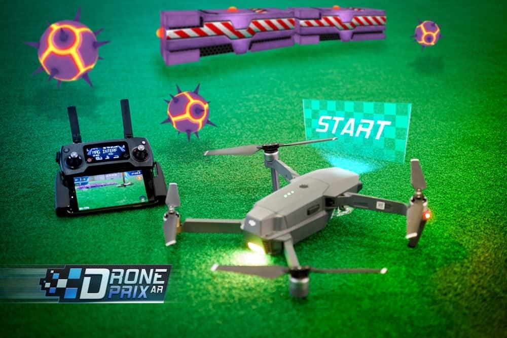 DronePrix AR, App DronePrix AR, gioco a realtà aumentata per droni dji,