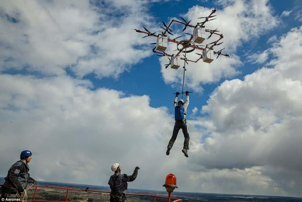 drone aerones, drone, drone trasporto persone,
