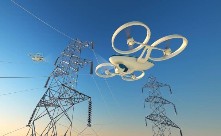 Droni per il monitoraggio di linee elettriche