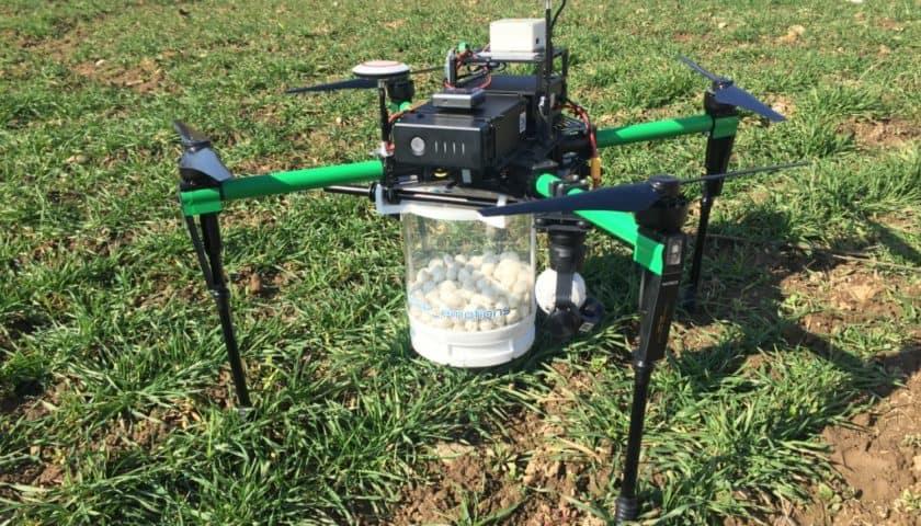 Utilizzo di droni in agricoltura di precisione