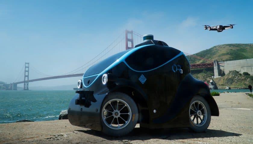O-R3 una piccola auto con drone incorporato