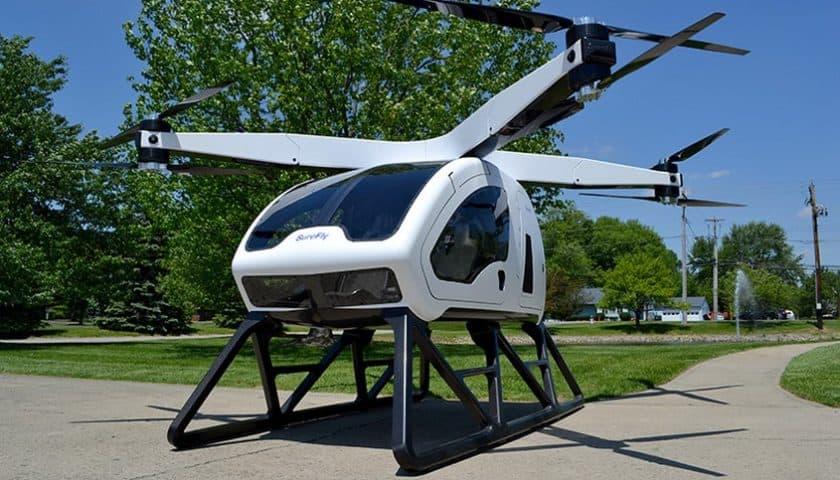 Il drone Surefly per il trasporto di persone