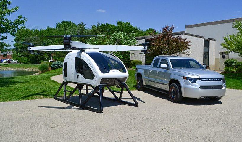 drone surefly per il trasporto di persone