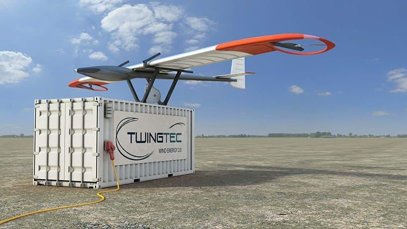 Droni che producono energia dal vento