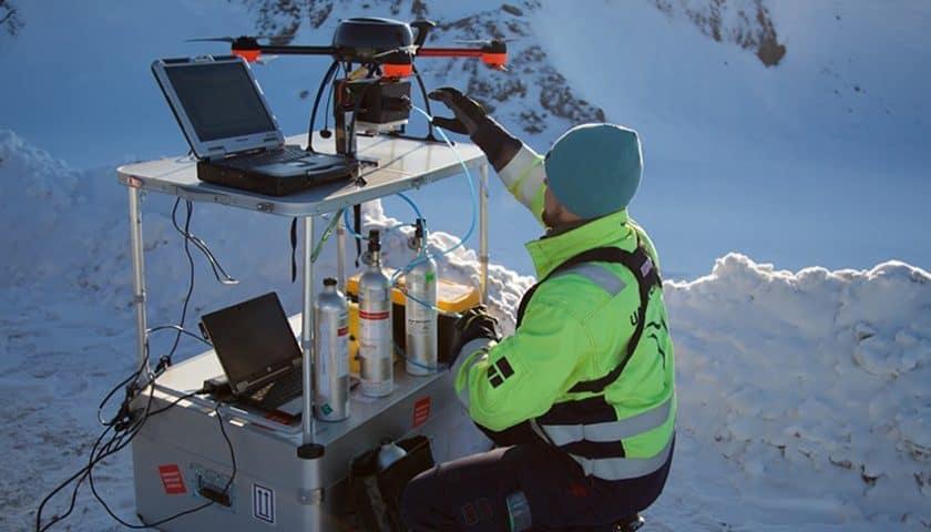 Droni per il monitoraggio inquinamento