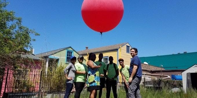 Pallone sonda per mappature aeree