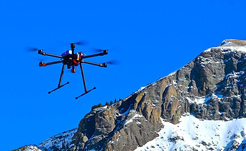 Droni per mappatura e monitoraggio ghiacciai