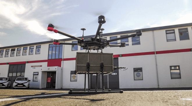 Drone per consegnare prodotti alimentari in Islanda, Drone per consegnare prodotti alimentari,