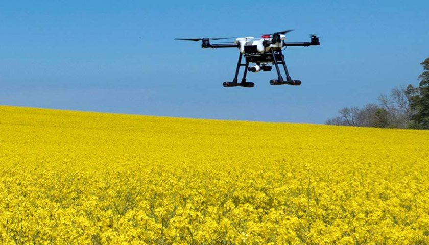 Drone che salva le mele in Trentino