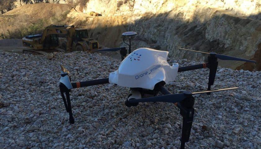 Droni per mappatura cantieri di Komatsu e Dji