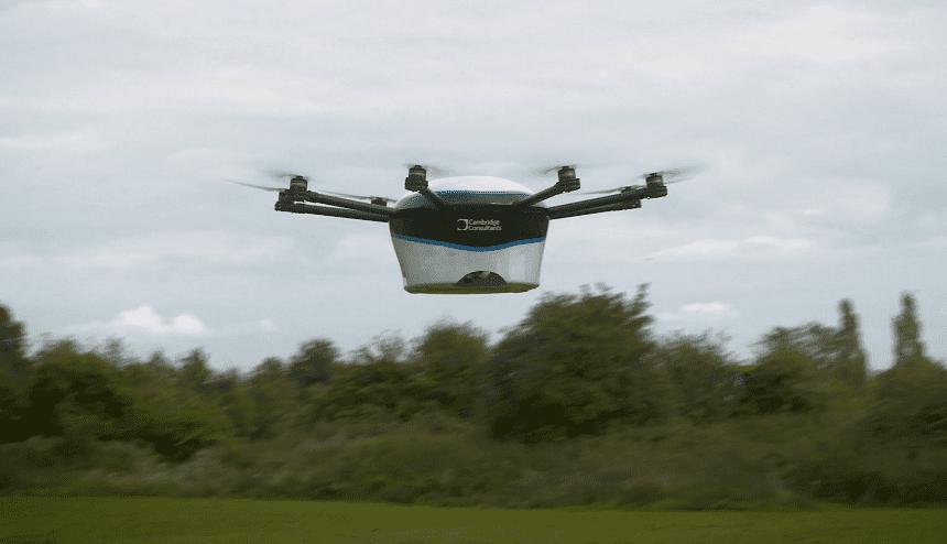 Il drone per le consegne urgenti, drone per consegne, drone devilair,