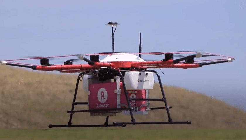 Drone che consegna alimenti a Fukushima