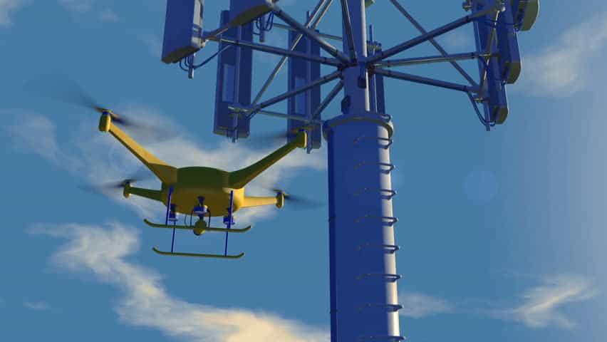 Droni controllati tramite la rete telefonica 5G