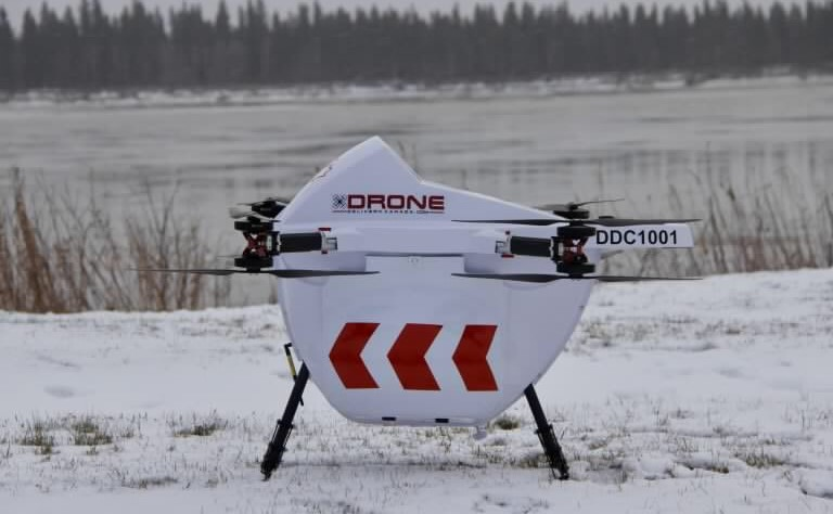 Drone per il trasporto di merci in Canada