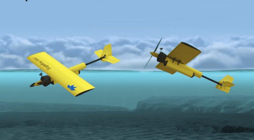 EagleRay il drone sottomarino che vola