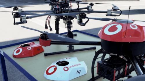 Sistema Vodafone per il monitoraggio di droni