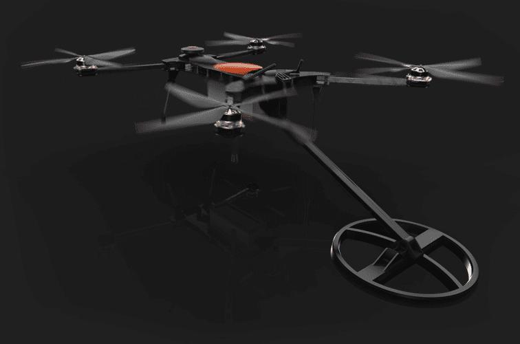 Drone con Metal Detector