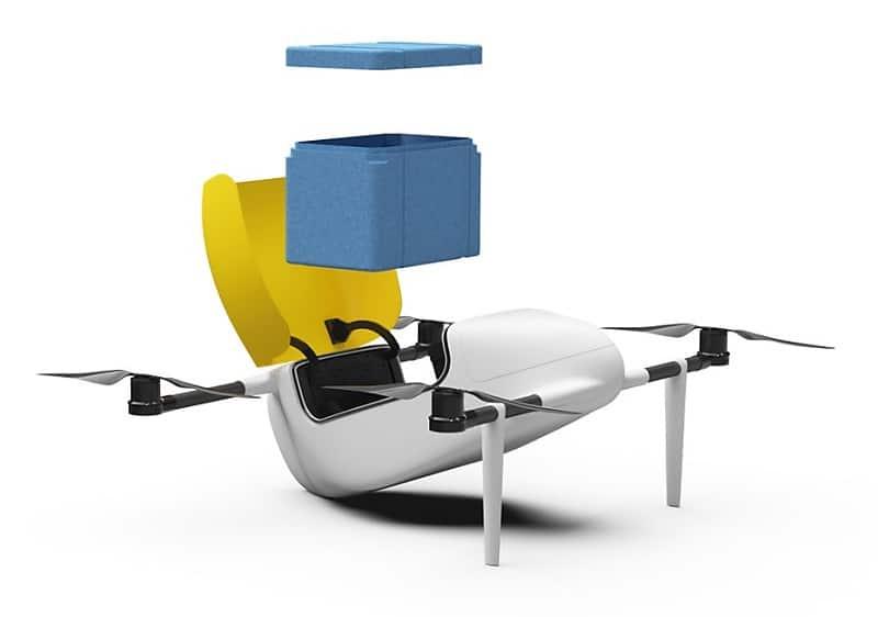 Deldro il drone svizzero per trasporto merci, drone svizzero per trasporto merci, deldro,
