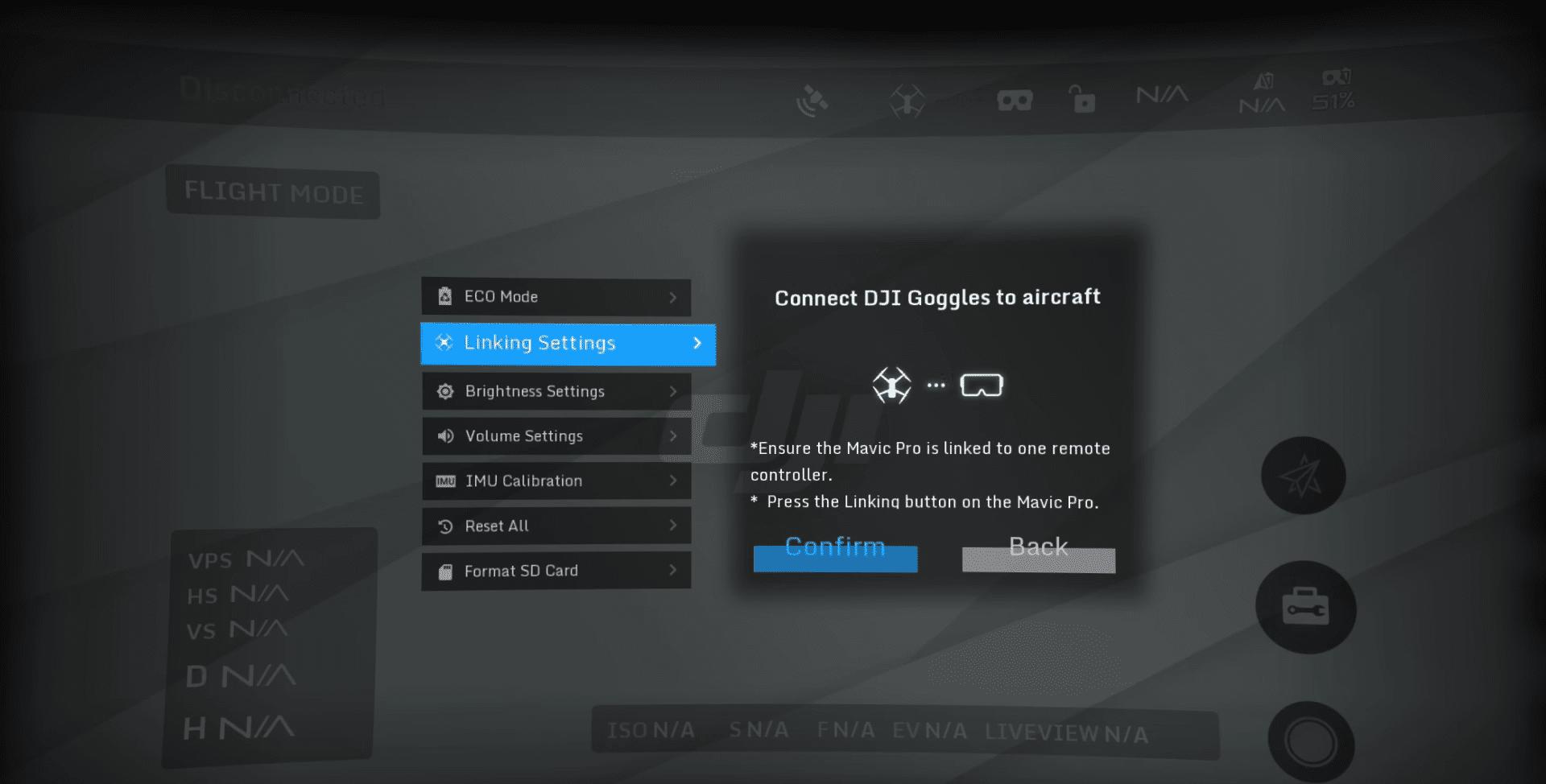 Come collegare i Dji Goggles al drone
