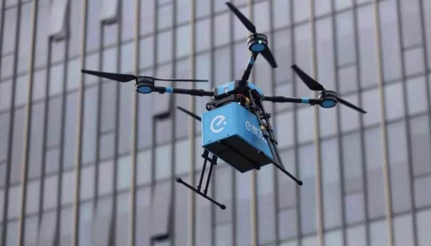 Droni per consegnare cibo in Cina