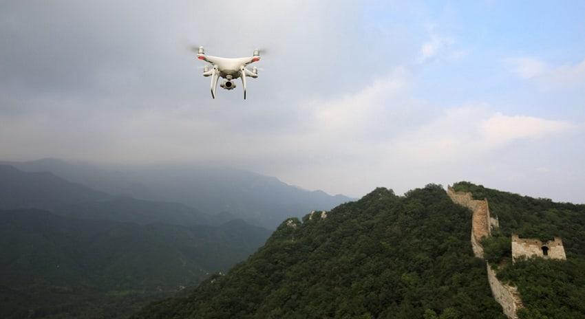 Droni Intel per il restauro della grande Muraglia Cinese