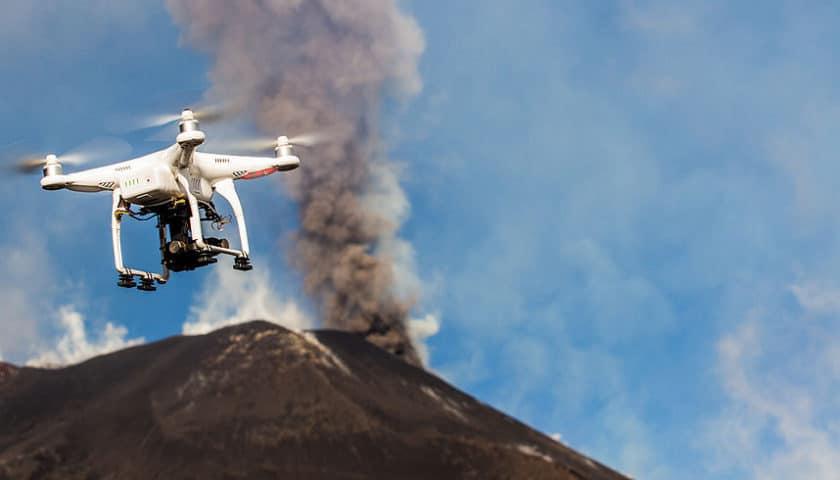 Droni per mappatura 3D del vulcano Etna
