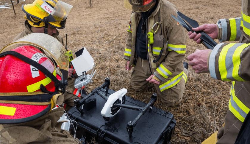 Droni contro gli incendi
