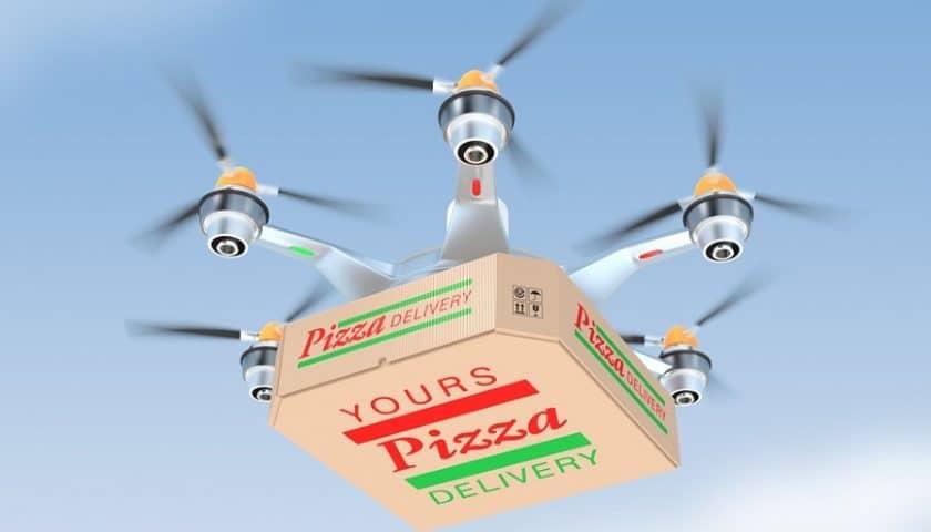 Droni che consegnano pizze, premiato un italiano
