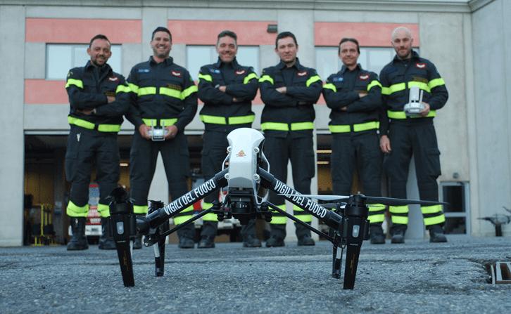 Drone dei Vigili del Fuoco alla ricerca di un disperso