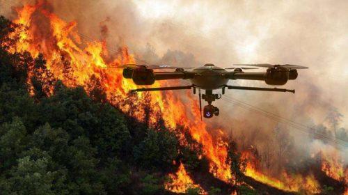 Droni antincendio, parte la campagna stopincendi
