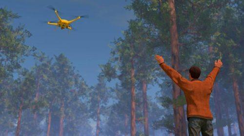 Droni che aiutano i soccorritori in Unione Europea