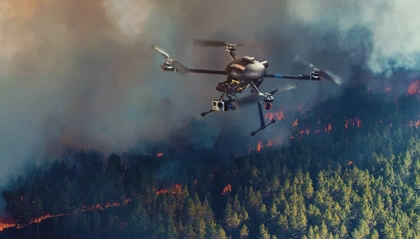 Droni per la prevenzione degli incendi