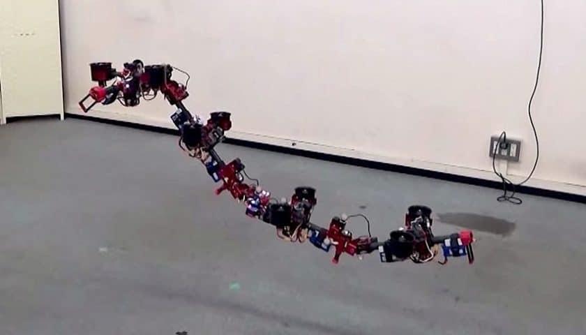 Il drone serpente che cambia forma in volo