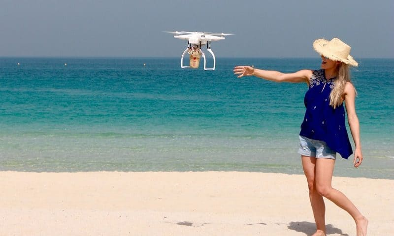 Volare con il drone e la privacy in estate