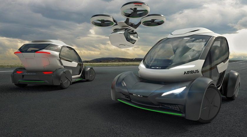 Auto Drone Pop Up di Airbus e Italdesign