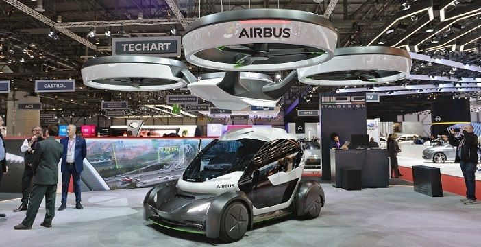 Auto Drone Pop Up di Airbus