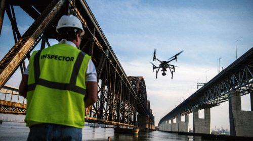 Ispezione e monitoraggio di ponti autostradali con droni