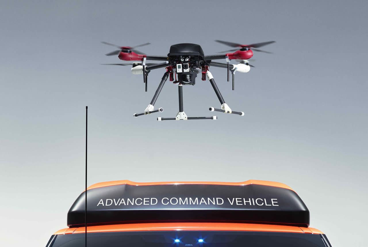 drone land rover