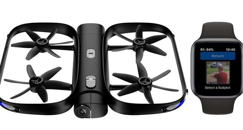 Drone Skydio che si pilota con Apple Watch