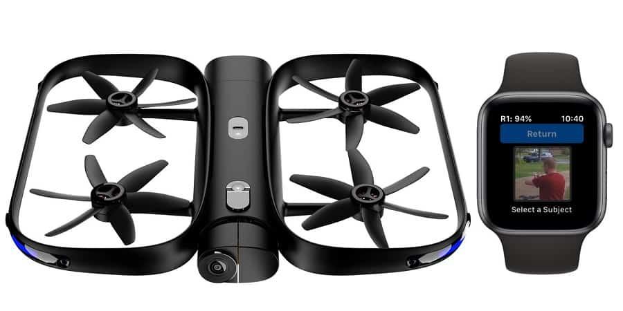 Drone Skydio che si pilota con Apple Watch