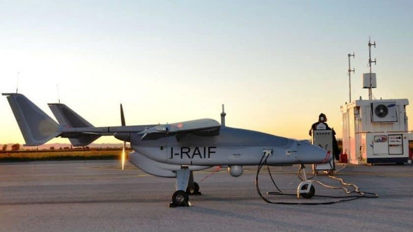 Drone Leonardo per sorveglianza marittima Frontex
