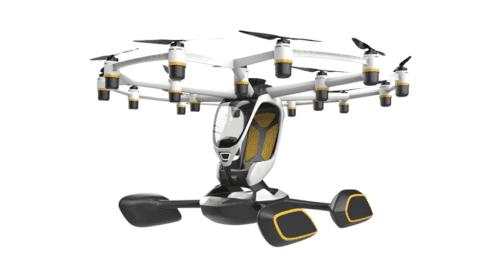 Droni passeggeri Lift che atterrano e decollano dall'acqua