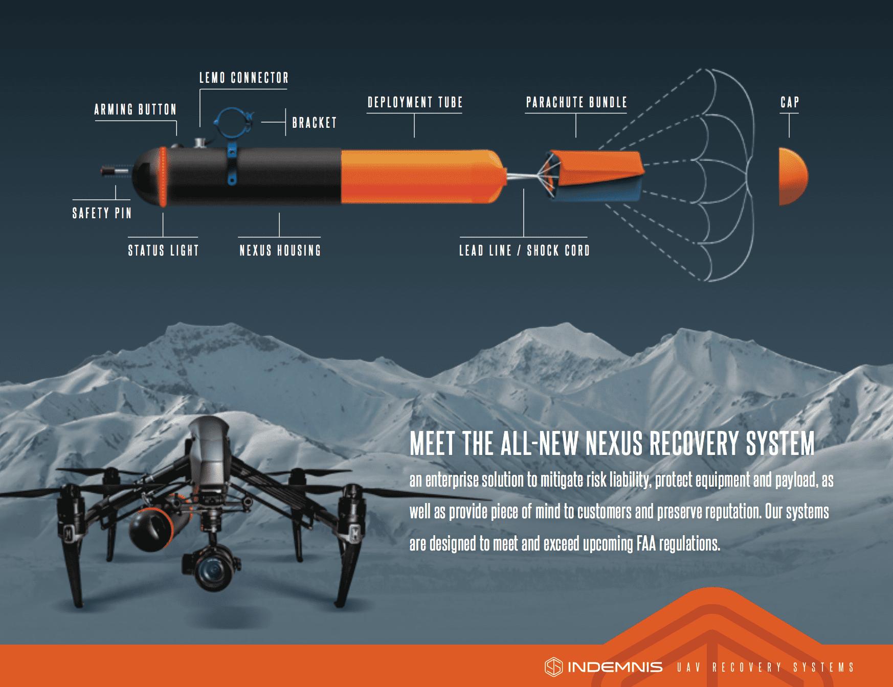 Paracadute per droni Dji