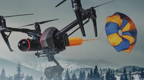 Paracadute per droni Dji ad espulsione rapida