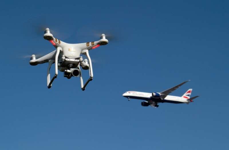 Drone in pista a Malpensa